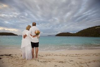Marriage vow renewal on the Beach in St John